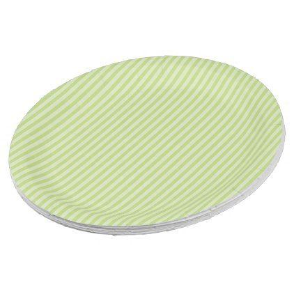 Trendy Pastel Bright Lime Green Stripes Pattern Paper Plate - trendy gifts cool gift ideas customize  sc 1 st  Pinterest & Trendy Pastel Bright Lime Green Stripes Pattern Paper Plate - trendy ...