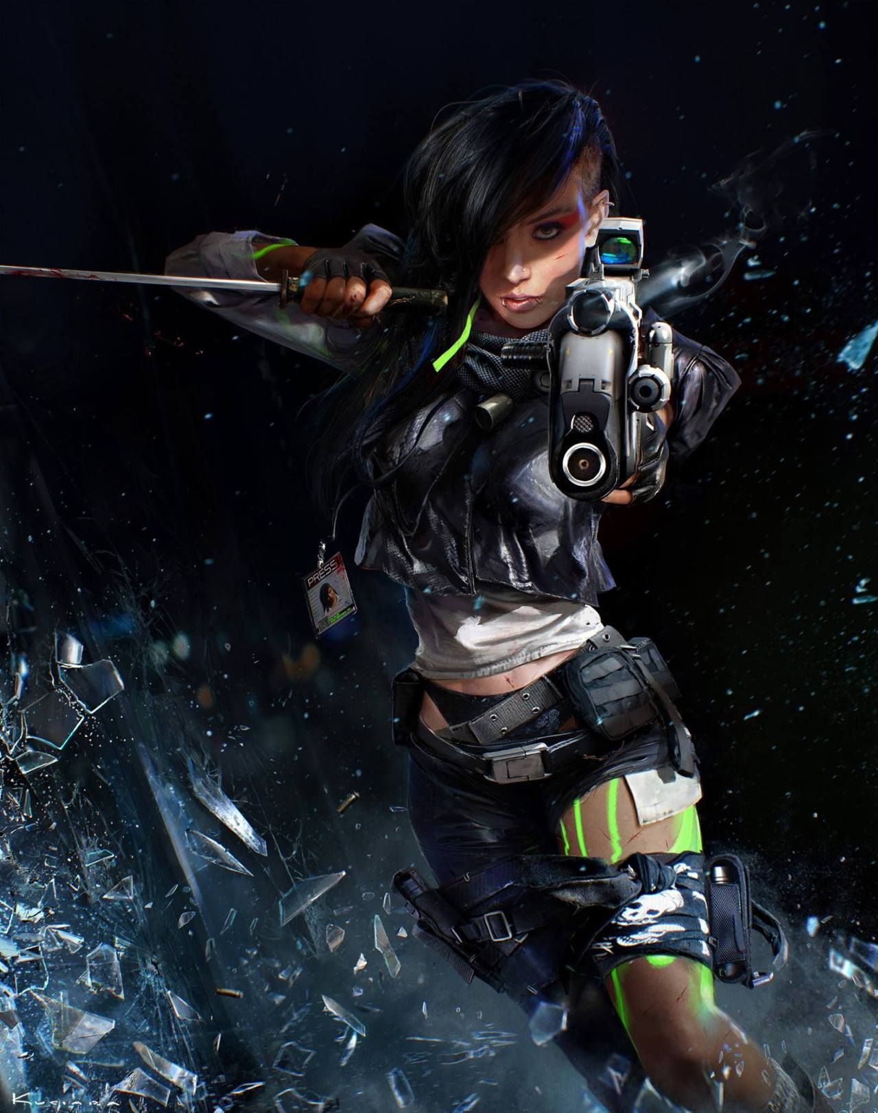 "sekigan: "" Showtime Original Cyberpunk Series 11 by maciej ..."