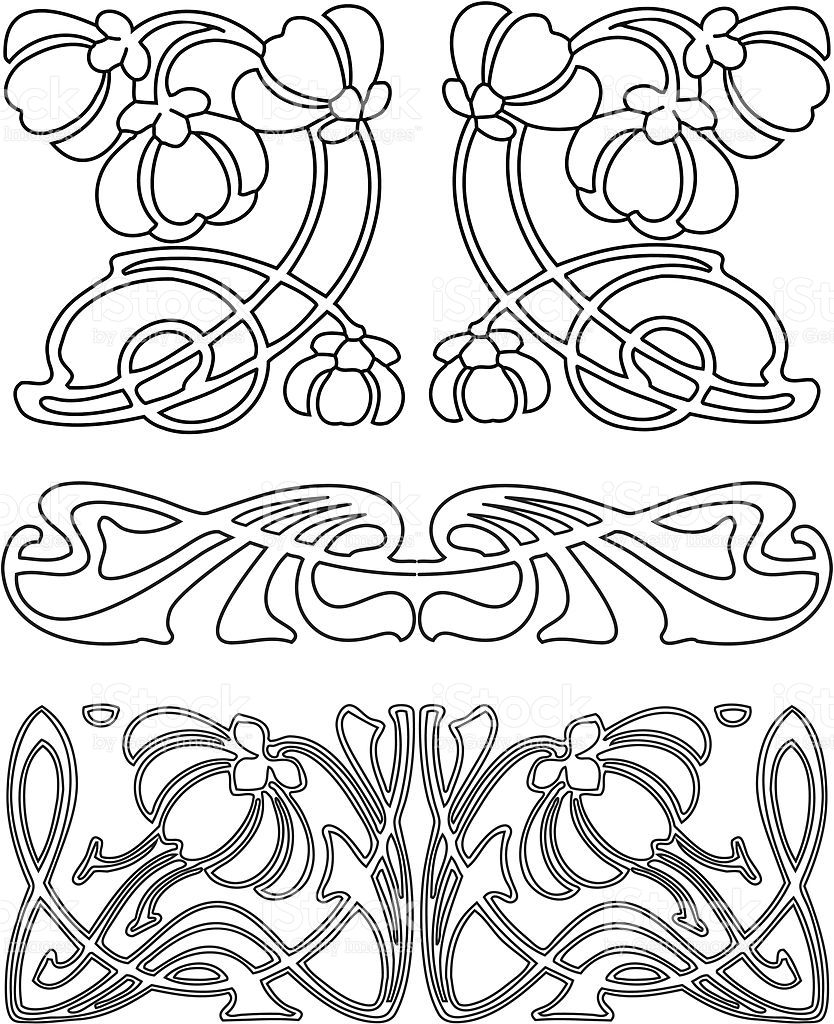 Eps Ai Ai Jpg Art Nouveau Pattern Art Nouveau