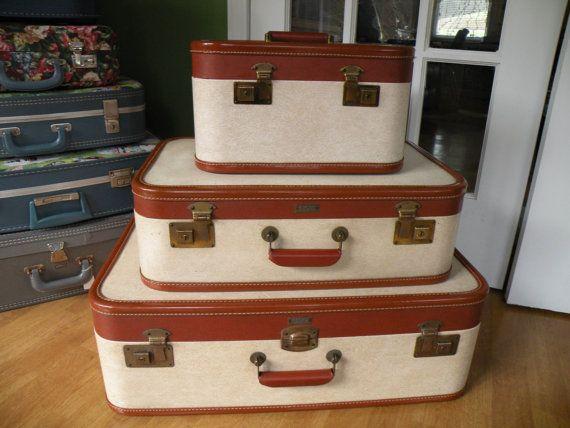 Vintage suitcase set , Aero Pak, Made in Petersburg, Virginia, Set ...