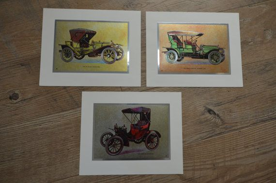 Vintage Car Collection of Prints Wall Art 8x10 by CountryCraz