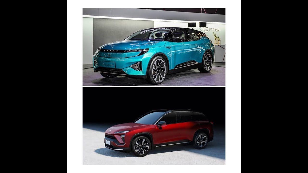Byton M Byte And Nio Es8 Two China Made High Per Luxery Electric Suv With Images Suv Sport Utility Vehicle Luxury Cars