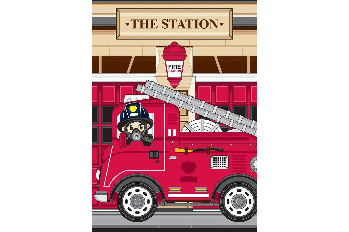 Fireman Fire Truck Fire Trucks Fireman Fire Station