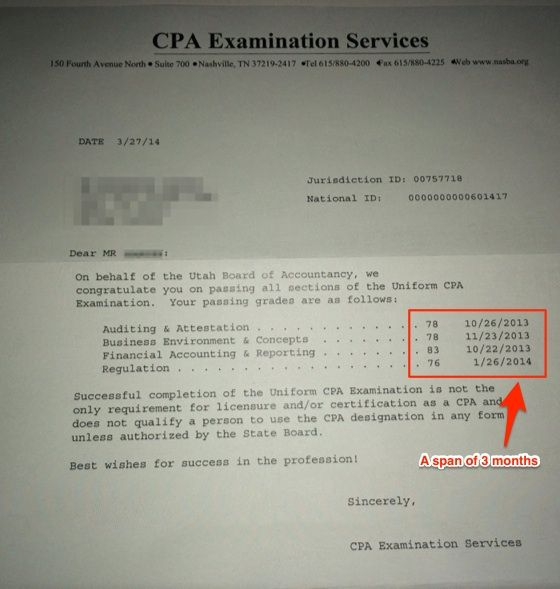 how to pass the cpa exam in 6 months