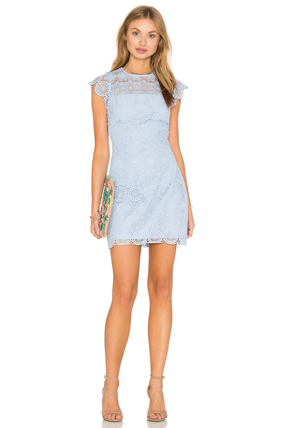 Shop for Endless Rose Lace Shift Dress in Powder Blue at REVOLVE. Free day  shipping and returns, 30 day price match guarantee.