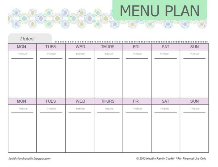 food nanny printables You can download and print my menu plan at - meal calendar