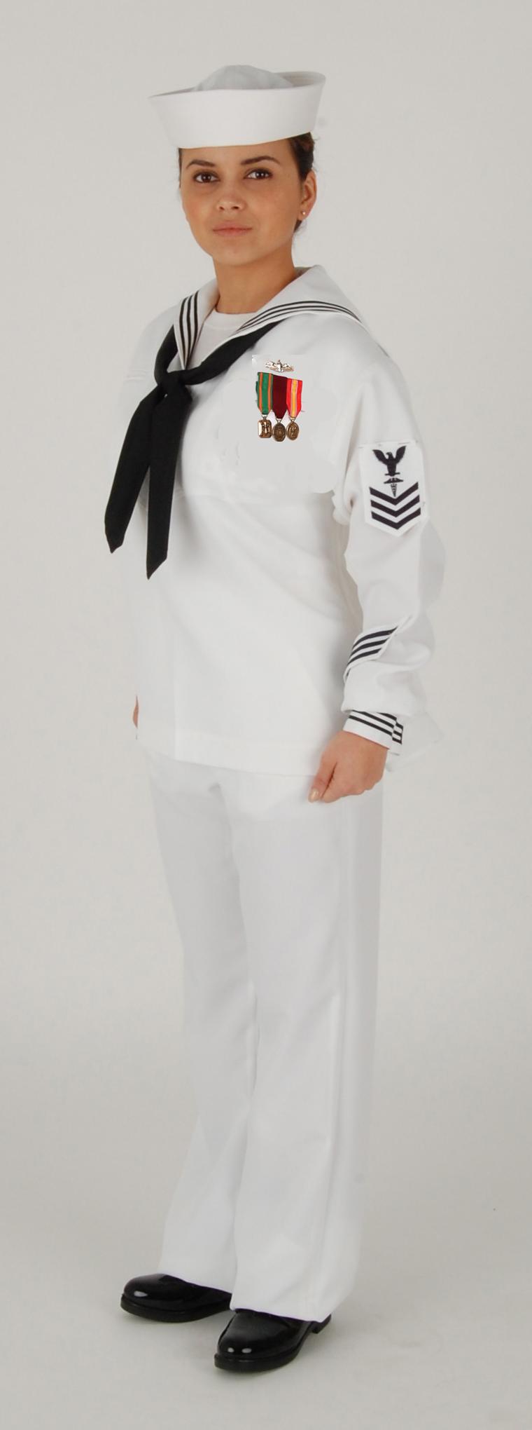 new navy enlisted service white dress uniform - Google