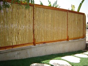 """natural bamboo fence """" x 3'"""