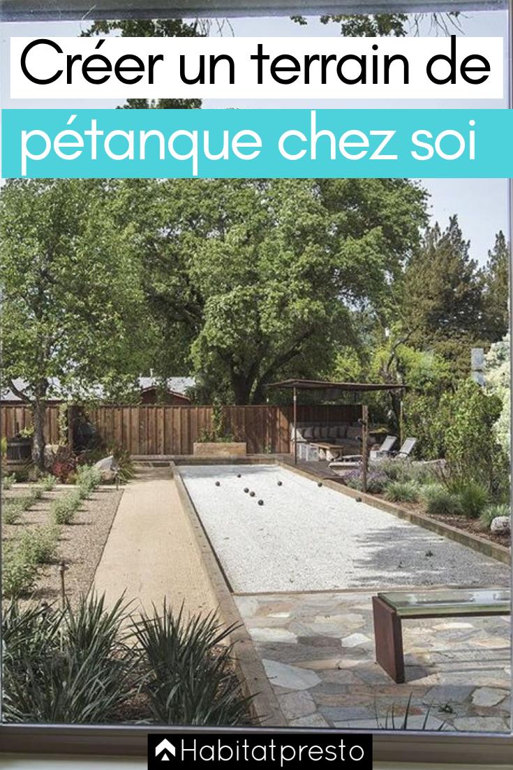 Comment Construire Un Terrain De Petanque Chez Soi 4 Etapes Terrain Petanque Jeux Jardin Et Amenagement Jardin