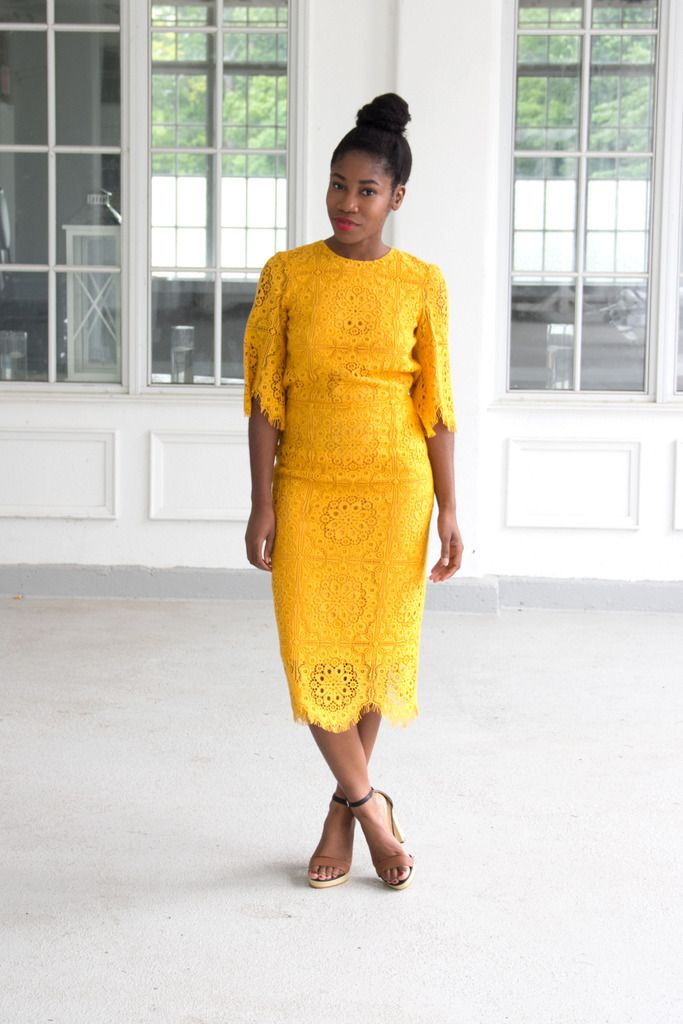 Wedding guest the yellow lace dress lace dress summer for Yellow wedding guest dress