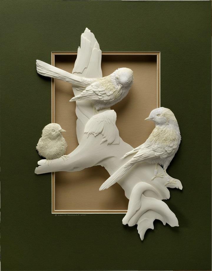 Calvin Nicholls – Incredibly Detailed 3D Paper Sculptures ...