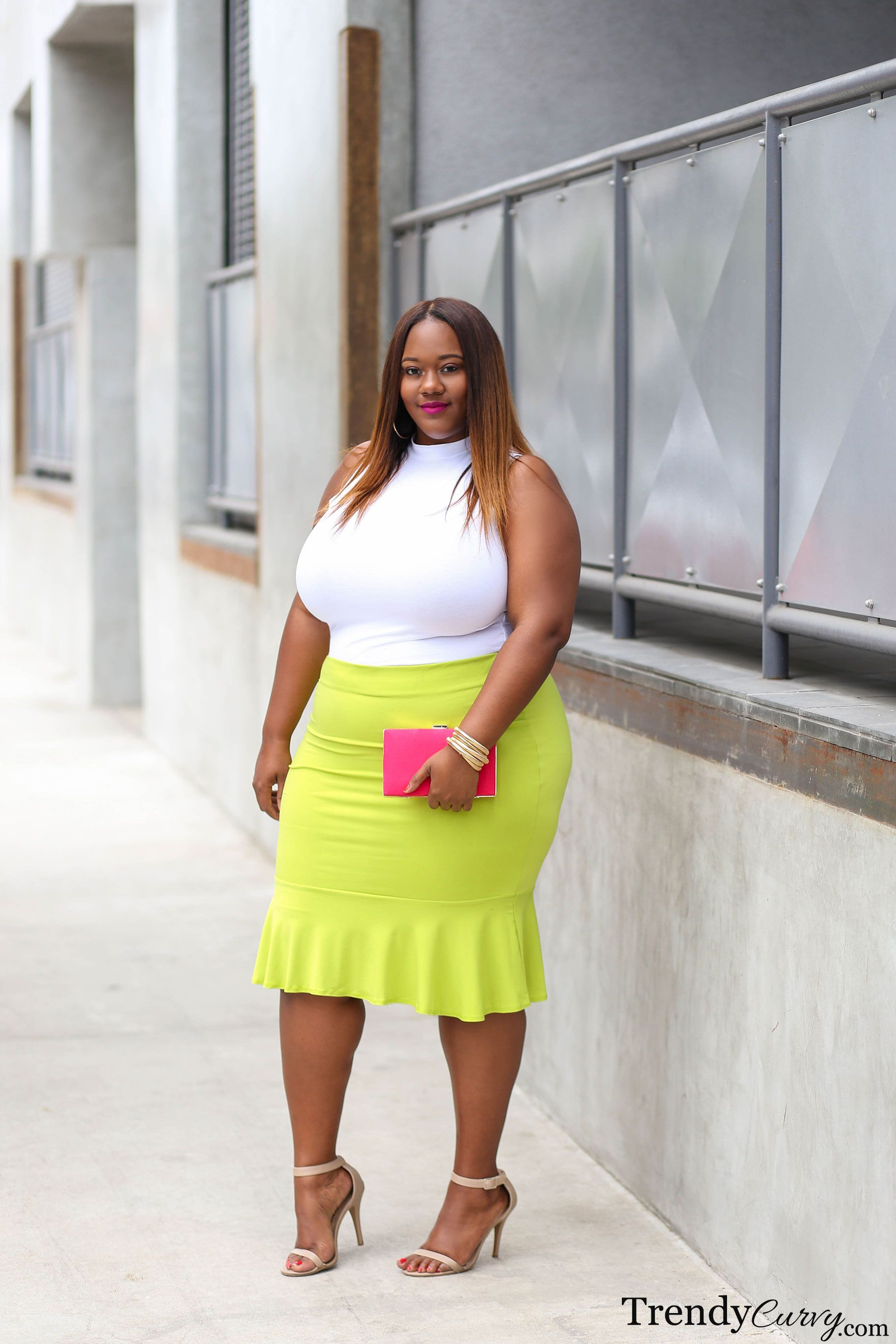 Neon Colored Plus Size Clothing Neon Bright | Curvy Girls | Curvy Women Fashion, Plus Size
