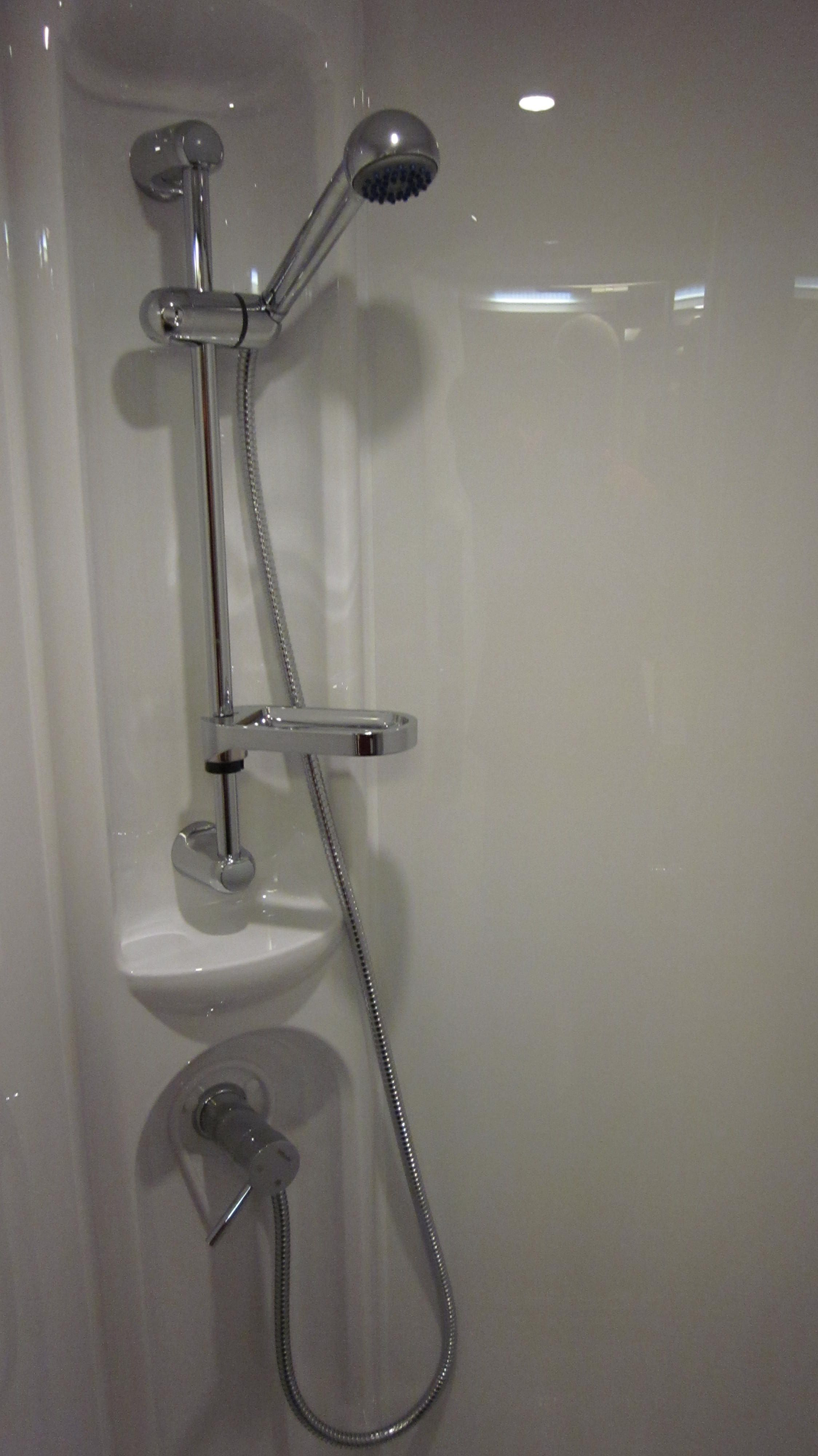 Elddis Affinity 540. Shower head in large shower cubicle. | Caravan ...