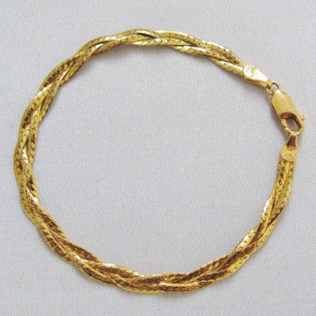 Vintage 10 Karat Gold Braided Bracelet Vintage Jewelry Bracelets Braided Bracelets
