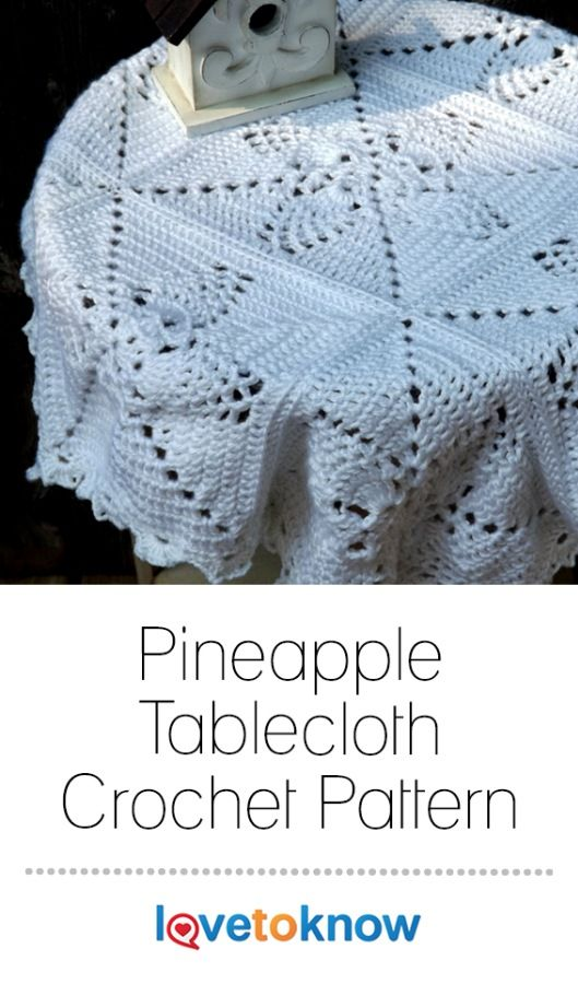 Crocheting A Tablecloth Can Be Intimidating Because They Are