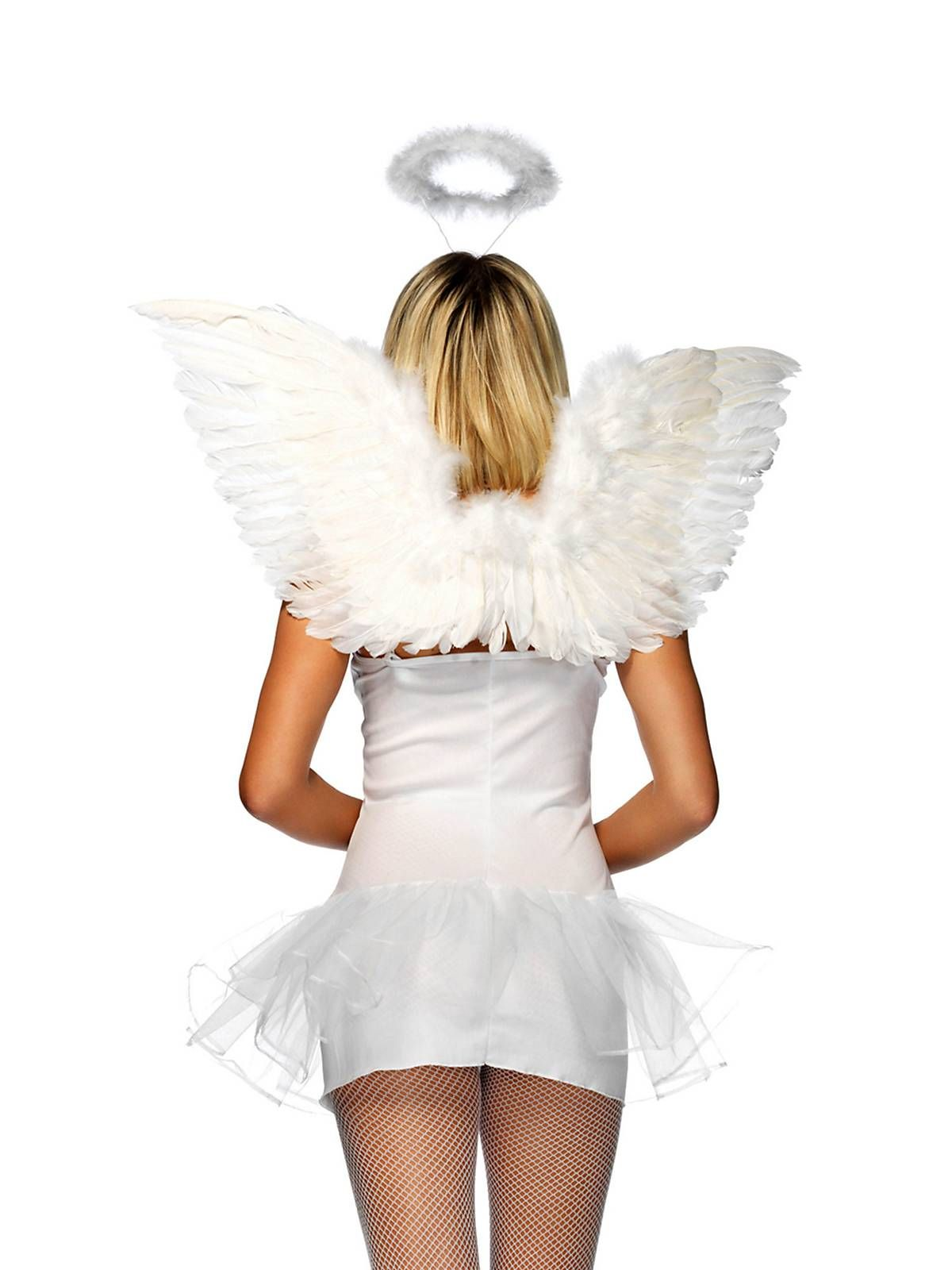 White Wings And Halo Set Angel fancy dress, Wings costume