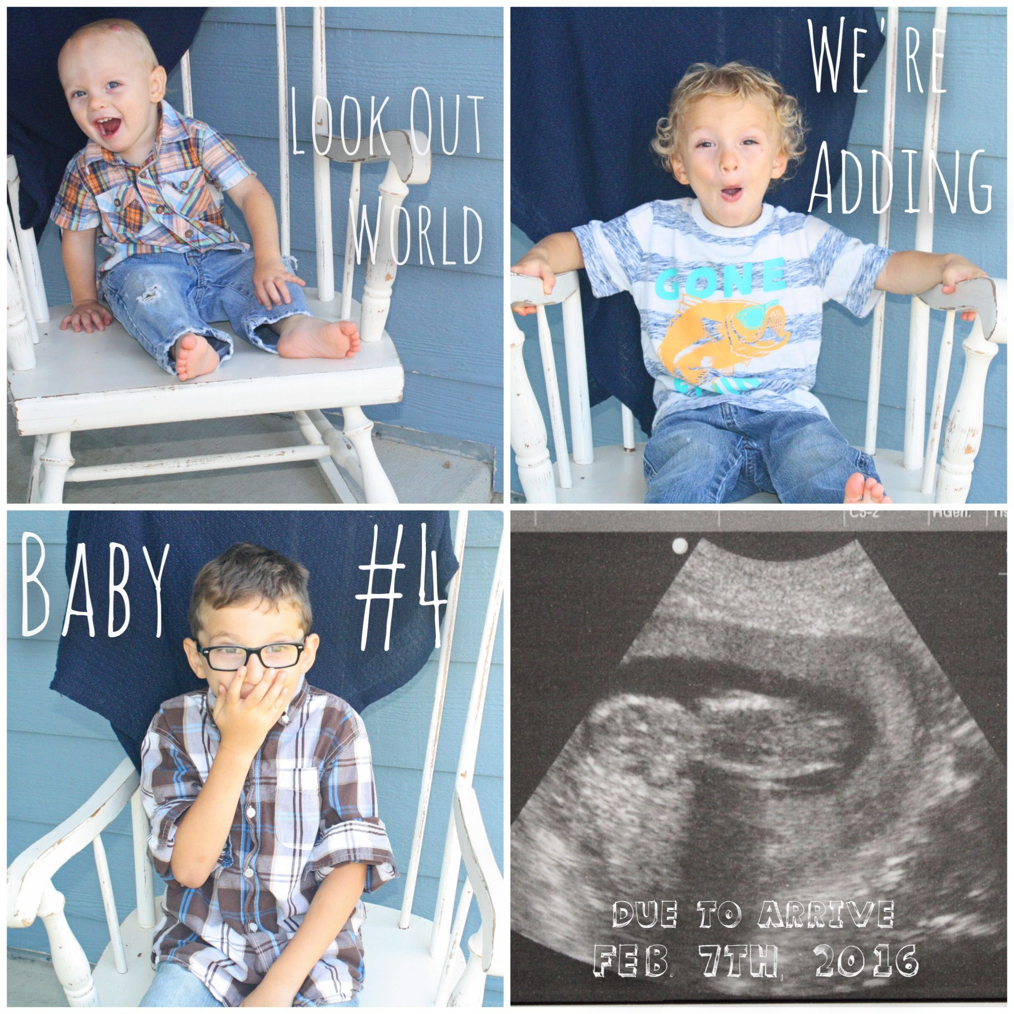 Fourth pregnancy announcement    For years down the road    My