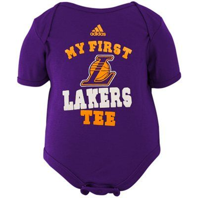 Adidas Los Angeles Lakers Newborn My New First Creeper Purple Lakers Custom Baby Clothes Baby Boy Outfits