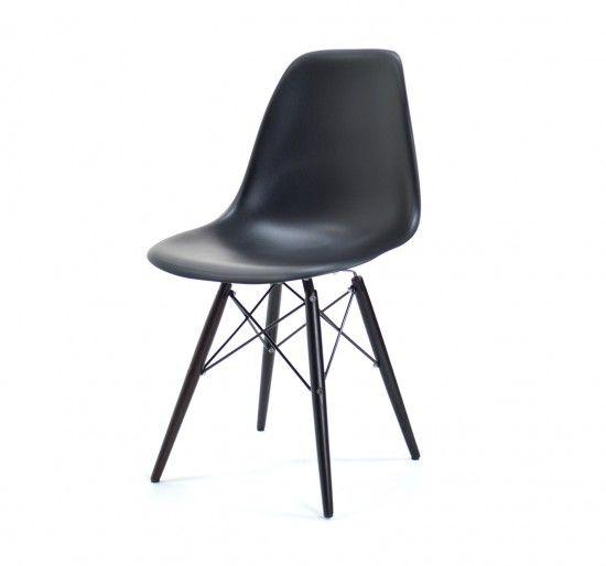 Chaise Pop Dsw Base Sombre Noir Chaise Eames Dsw Chaises Eames Eames