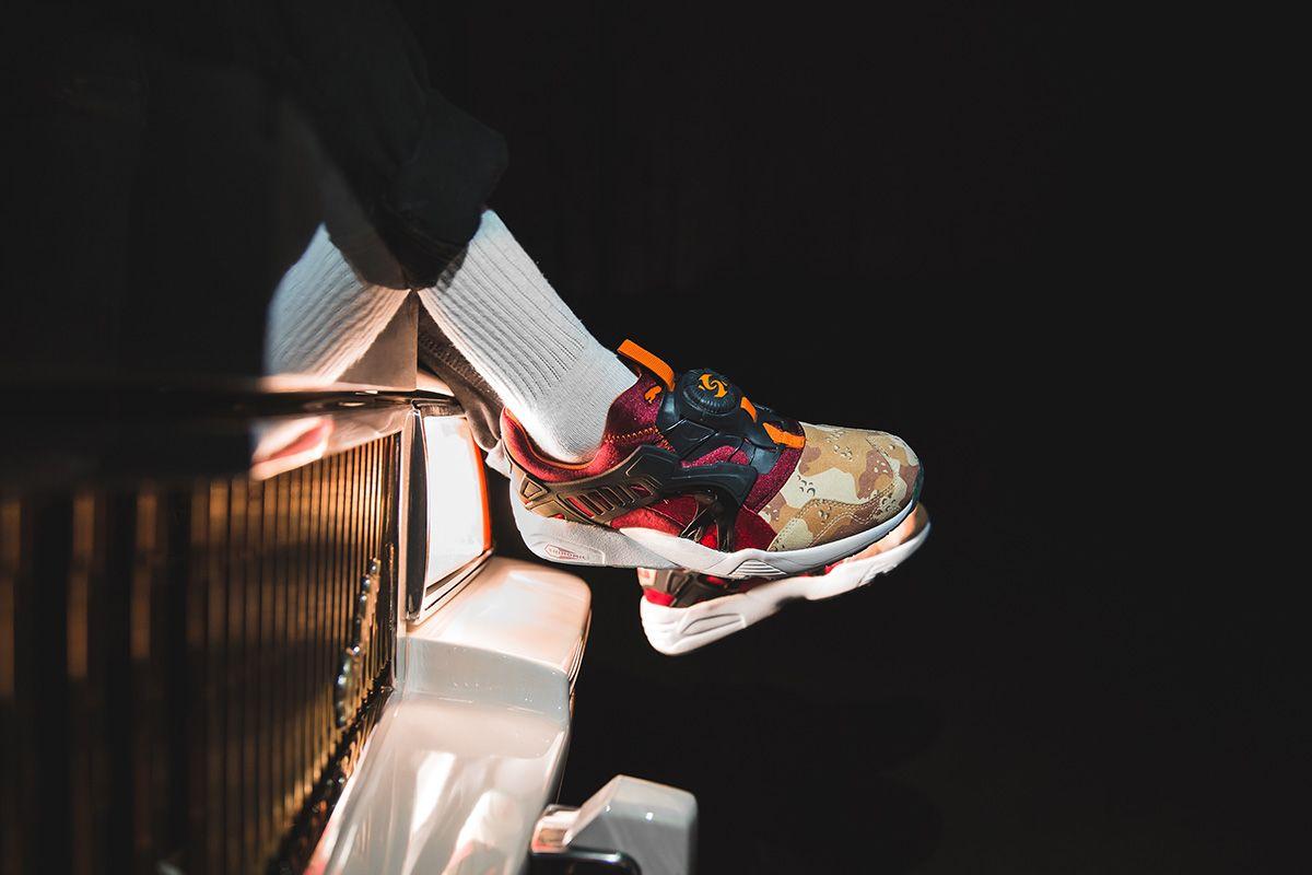 "ac8584f7389 ... Releasing Titolo x Atmos x Puma Disc Blaze ""Desert Dusk"" - EU Kicks  Sneaker ..."