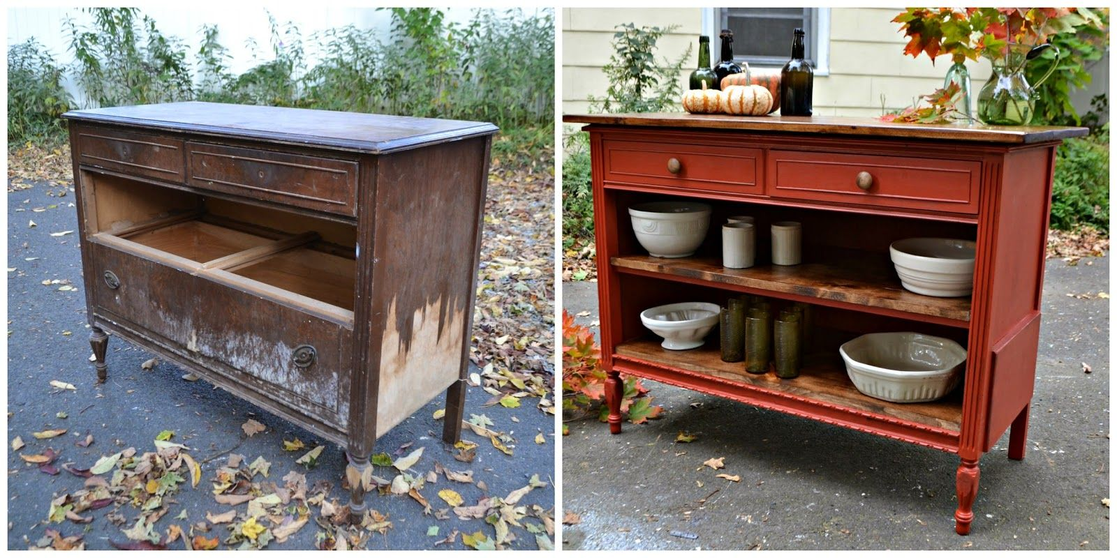 Repurposed Antique Dresser As A Kitchen Island With A: Old Dresser ...kitchen Island