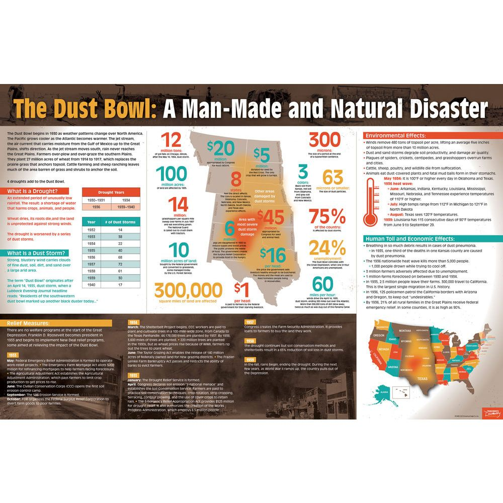 Dust Bowl Infographic Dust bowl, Infographic, Cause, effect