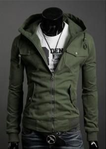 Vintage Slim Fit Zip Hoodie Jacket