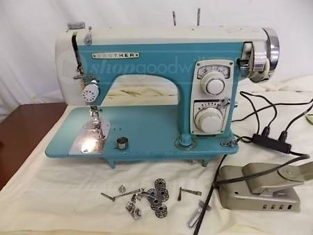 Brother Sewing Machine Turquoise Goodwill Auction Ends 404040013 New Goodwill Sewing Machine
