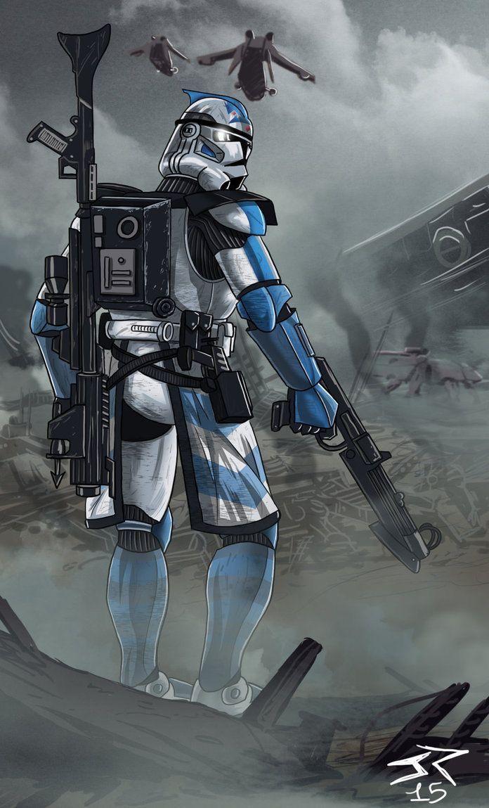 Republic Arc Trooper Clone Wars Era Star Wars Painting Star Wars Images Star Wars Pictures