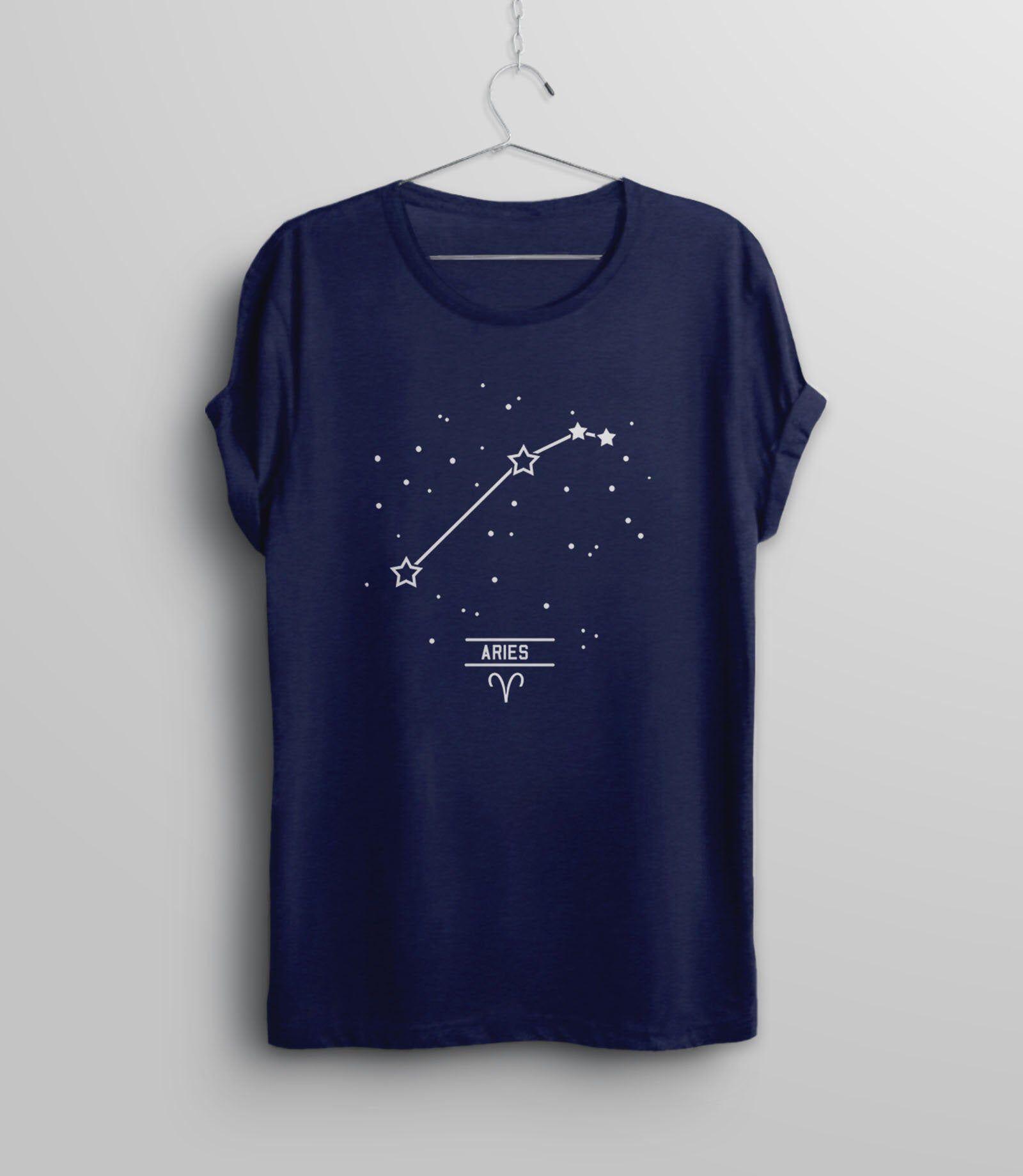 Aries Constellation T Shirt March Birthday Shirt, Women