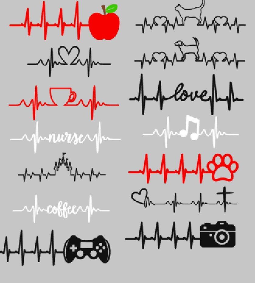 Heartbeat Decals | Etsy