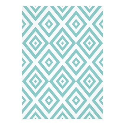 Abstract Geometric Pattern  Blue And White Card  Holiday Card