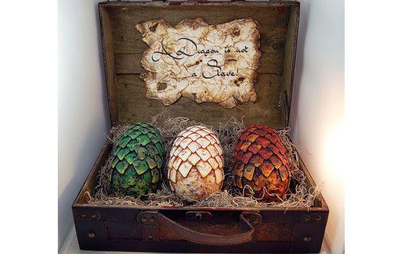 Os ovos de dragões decorativos estão à venda no Etsy por R$ 674,75 (Foto: Divulgação/Etsy)