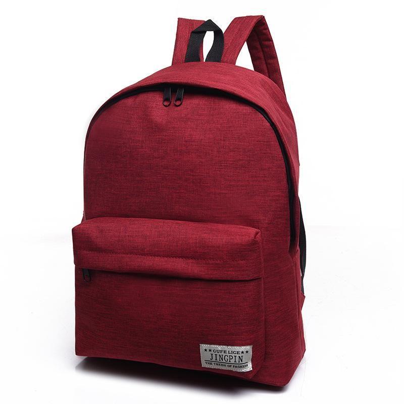 1de7ddda6e1 LUODUN Canvas shoulder bag female high school student bag Korean tide small  fresh college wind backpack male fashion travel bag