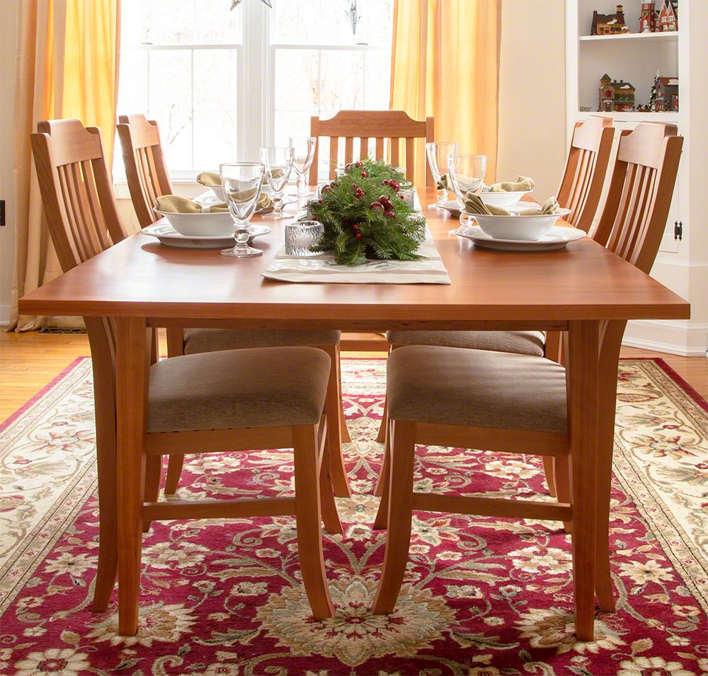 The warm tones of natural cherry wood furniture make the holidays ...