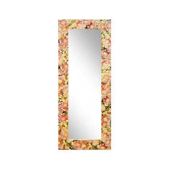 Grosse Designer Spiegel 200 X 80 X 4 Cm Mit Sommerblumen Spiegel