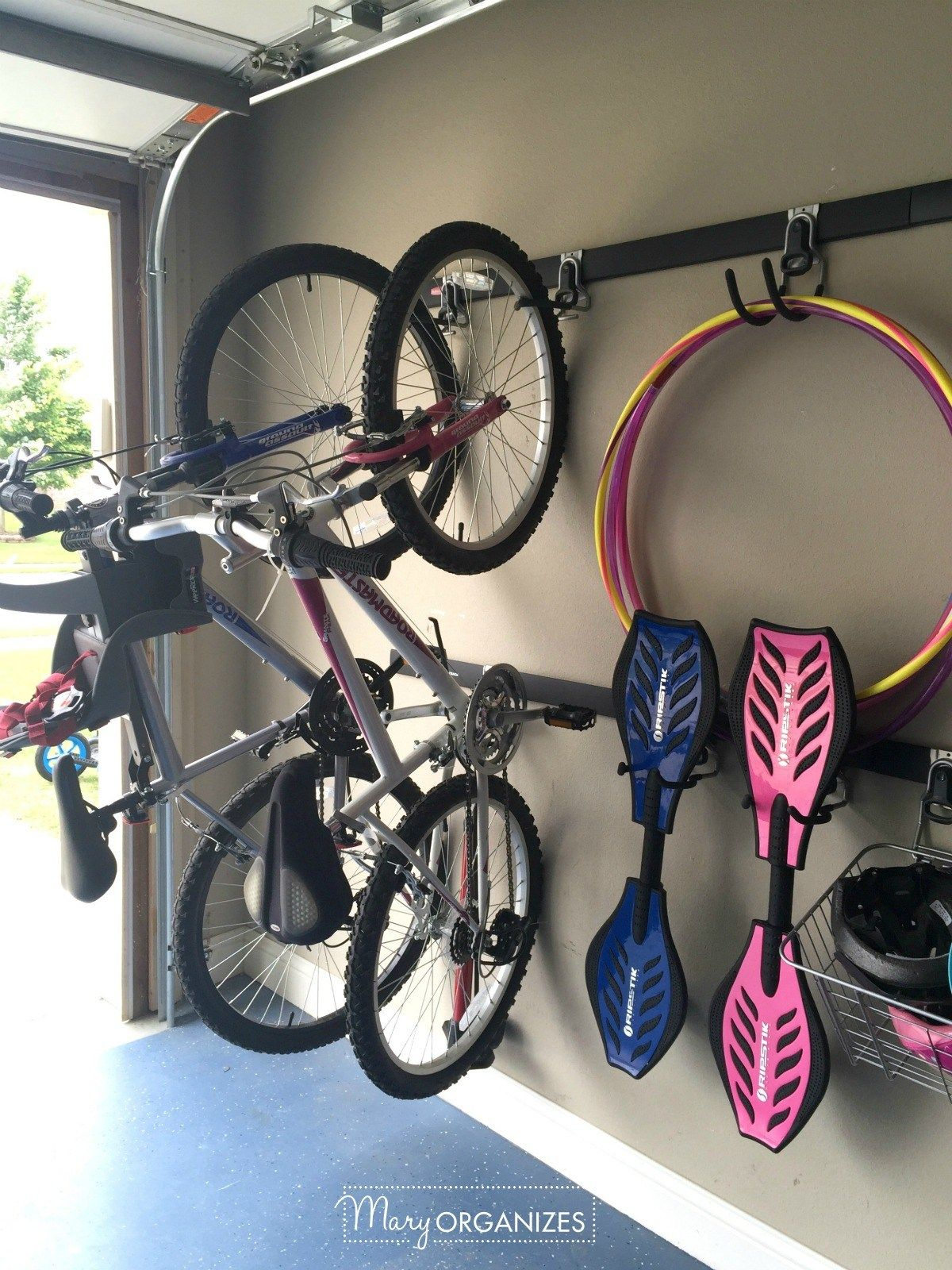 on next in bicycle bikes mounted smsender garage space two small wall hanging tulum ideas storage co pretty working room hang hooks to design white bike freestanding living