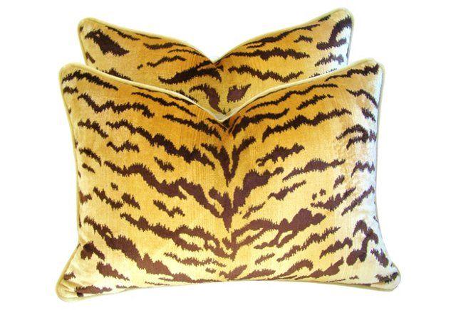 Scalamandré Silk  Le Tigre Pillows,  Pr