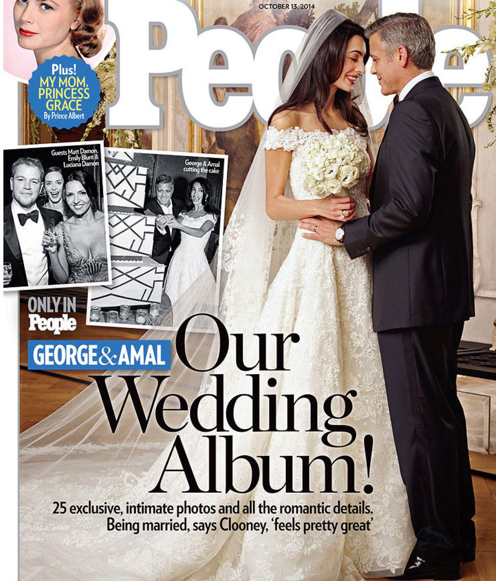 AMAL AND GORGE WEDDING - Oscar de la Renta dress
