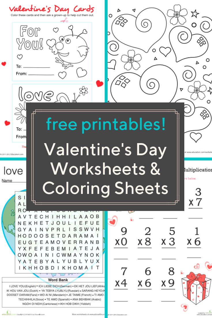 Your Kids Will Love These Printable Puzzles Worksheets And Coloring Pages For Valentine S Da Valentine Worksheets Valentine Math Kindergarten Math Valentines [ 1102 x 735 Pixel ]