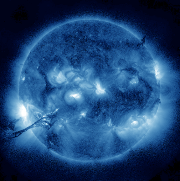 Giant Solar Prominence in Blue | Sun and Stars | Giant ...