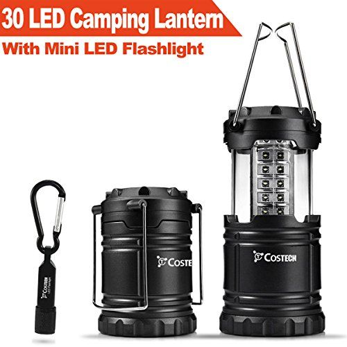 $7.89 - 30 LED Ultra Bright Camping Lantern, Costech Portable Collapsible Lightweight Lighting Outdoor Adventure Hiking Light Lamp with Mini LED Flashlight - http://bit.ly/2bv4uZ5 - Long-Lasting Lights: Includes 30 individual low powered LED bulbs, designed for a longer lifespan. Carry 360° of luminous light while saving energy. Dependable Build: Constructed with military grade, water resistant plastic; promising long-time durability, no matter where you go. Designed for Con