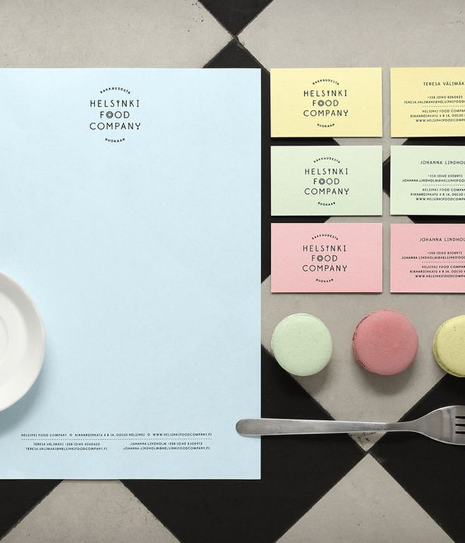 Hfcs stationery and business cards with a color palette inspired hfcs stationery and business cards with a color palette inspired by pastel hued macarons design identity pinterest business cards business and reheart Gallery
