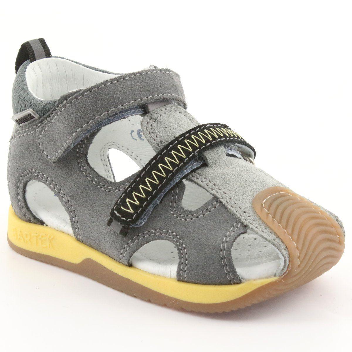 Sandalki Chlopiece Rzepy Bartek 81772 Szare Zolte Baby Shoes Footwear Shoes