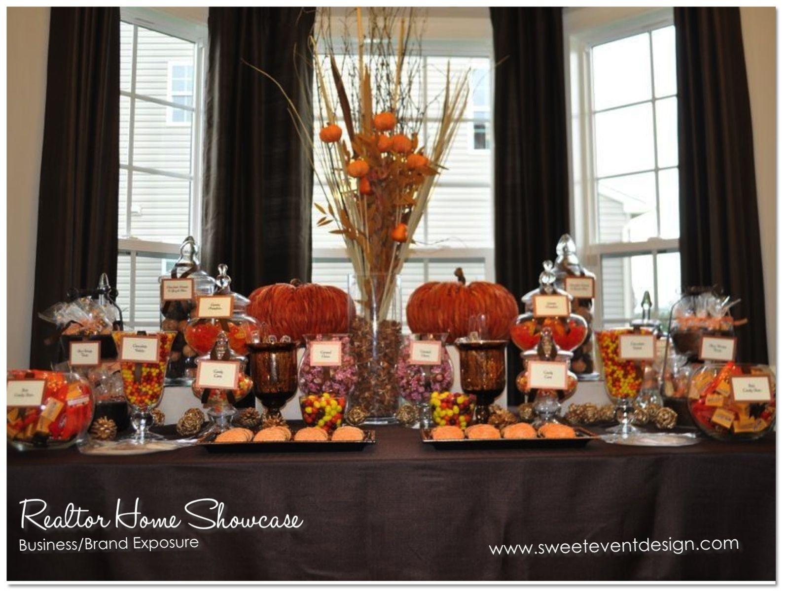Dessert Table Sweet Event Design Autumn Candy Buffet Bar Wedding