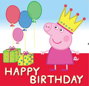 Birthday Wishes For Kids Peppa Pig Happy Birthday Peppa Pig Birthday Party