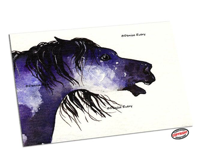 Single Line Art Print : Horse and dog one line art equine single drawing