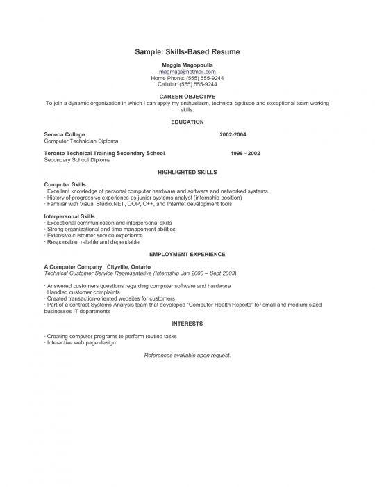 sample skill based resume format web example curriculum vitae Home - skill resume format