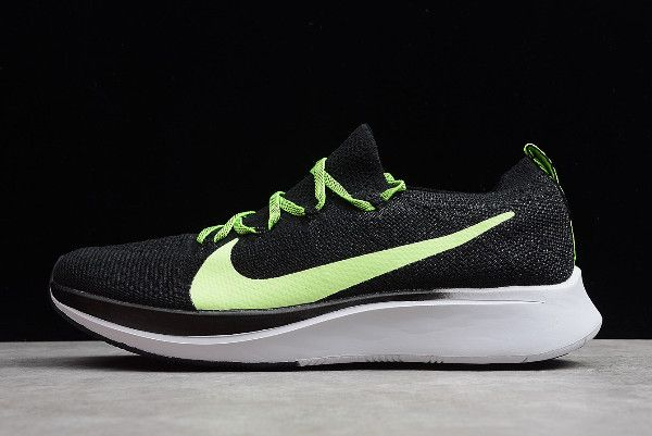 6cf4456f74c Nike Zoom Fly Flyknit Black Green-White AR456-400