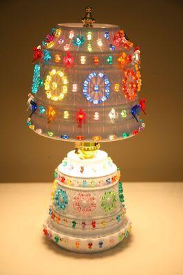 Vintage 1960s HIPPIE RETRO CAMPER RV LAWNWARE TiKi BAR Table LAMP LIGHT MINT